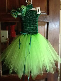 Beautiful Green Fairy Tutu Dress w/ Matching by mapymorales, $20.00