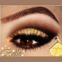 disney inspired makeup looks eye shadows Belle eye shadow Disney Eye Makeup, Disney Inspired Makeup, Belle Makeup, Disney Princess Makeup, Princess Belle, Beauty And The Beast Theme, Beauty And Beast Wedding, Makeup Art, Beauty Makeup