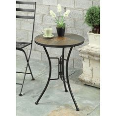 Shop for Slate Round Top End Table. Get free delivery at Overstock.com - Your…