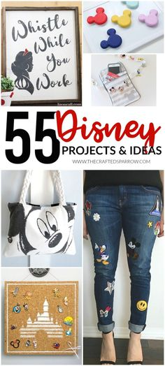 55 Disney Projects & Ideas is part of Disney diy crafts - Make your Disney trip or every day life a little more magical with one of these amazing 55 Disney Projects & Ideas! Something for everyone! Walt Disney, Disney Tips, Disney Fun, Disney Style, Disney Ideas, Diy Disney Ears, Orlando Disney, Disney Designs, Disney Nerd