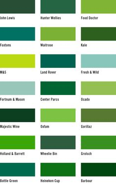 The Middle Cl Handbook Blog Home Colour Chart Green