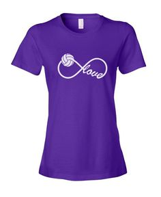 Infinity Infinite Love for Volleyball Black Blue Pink by Daylors, $14.99