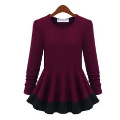 Western Long Sleeve Fake Two-Pieces. This would be super cute with jeans.
