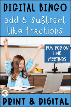 Add and subtract like fractions in this digital bingo activity! Subtraction Games, Addition And Subtraction, Fun Math Activities, Math Games, Fraction Bingo, Fourth Grade, Third Grade, Adding And Subtracting Fractions, Math Classroom