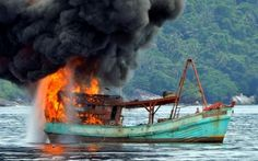 81 illegal fishing boats were blown up, Indonesia