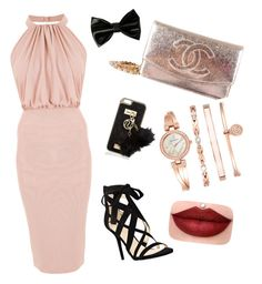 """""""Small parties outfit """" by shazaty97 ❤ liked on Polyvore featuring Nine West, Chanel, River Island and Anne Klein"""
