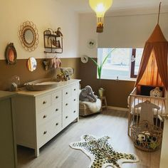 Baby Bedroom, Baby Boy Rooms, Baby Room Decor, Kids Bedroom, Baby Changing Station, Baby Changing Table, Toddler Floor Bed Frame, Jungle Baby Room, Jungle Jungle