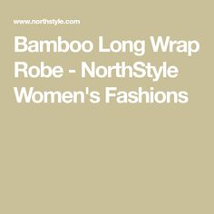 Bamboo Long Wrap Robe - NorthStyle Women's Fashions