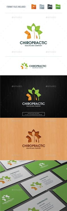Chiropractic Logo TemplateLogo Is Made With Vectors For Easy Resizing And Customizing All Texts Can Be Rewritten Even You Change The Font Or Color
