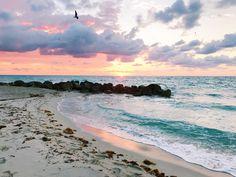 Sunrise in Miami #miami #florida #miamibeach #sobe #southbeach #brickell #miamibeach