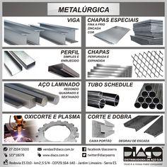 Linha Diaço para Metalúrgica #diaco #serra #es
