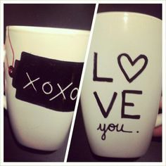 DIY mug: Use BIC permanent markers rather than sharpies. bake at 425 for 30minutes and let cool in the oven. Sharpies fade in color...