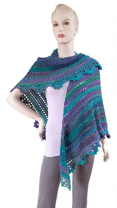 Ravelry: Penelope Shawl - Gourmet Crochet pattern by Carolyn Christmas - FREE RAV <3