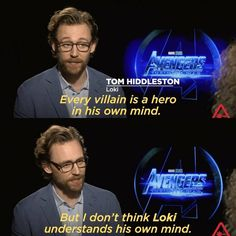 I love how he knows so much about the character
