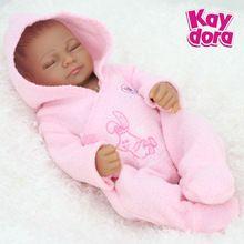 3f403c25d81 25cm Full Body Silicone Reborn Dolls Lifelike Sleeping Baby Girl Alive  Reborn Realistic Princess Toys Birthday