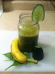 The Banana Boost Juice Recipe is one of my favorite juice recipes. It has a creamy flavor but isn't overpowering. It consists of banana, apple, mango, pomegranate, carrot, spinach, celery, and cucumber. #Justonjuice #juicing    http://www.justonjuice.com/banana-boost-juice-recipe/