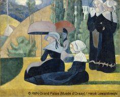 Emile Bernard (1868-1941) - Les bretonnes aux ombrelles - 1892 - Huile sur toile - H. 85 ; L. 105 cm - Paris, musée d'Orsay