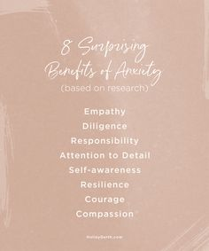8 (surprising) benefits of anxiety… I've never thought of it this way! Prayer Verses, Self Awareness, Anxiety Relief, You Are Awesome, Words Of Encouragement, Anxious, No Response, Benefit, Inspirational Quotes