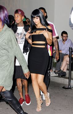 Pin for Later: Kylie Jenner and Tyga Have a Sexy Date Night After the VMAs Kylie Jenner Tyga, Tyga And Kylie, Kylie Jenner Outfits, Kim And Kourtney, Celebs, Celebrities, Kardashian, Bodycon Dress, Womens Fashion