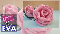 Rosas em EVA | SEM MODELADOR Dyi Crafts, Easter Crafts, Cold Porcelain Tutorial, Diy Ribbon Flowers, Origami Rose, Paper Roses, Handmade Flowers, Flower Making, Projects To Try