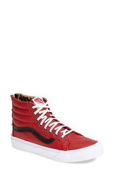 Gwen Stefani Channels Tomboy Chic in Vans Sneakers Vans Sneakers, Vans Shoes, Converse, Dream Shoes, New Shoes, Sock Shoes, Shoe Boots, Vans Sk8 Hi Slim, Red Vans