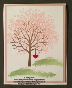 Stampin Up Sheltering tree stamp set card from the occasions catalog