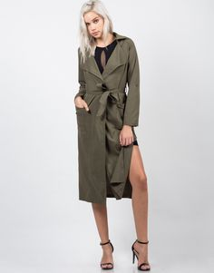 Belted Long Trench Coat
