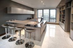 modern kitchen in a light grey/white colour. Visit   http://newcastlekitchenandbedroomco.co.uk/kitchens-newcastle/