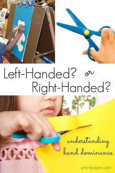 Understanding Hand Dominance in Preschool. Left Handed or Right Handed? Learn how your preschool and kindergarten kids develop hand preference and how you can help them. Pre-K Pages