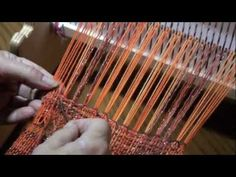 This video shows how to do hemstitching on a rigid heddle loom. It further demonstrates that 2 scarves can be warped on a Cricket loom at one time. The hemstitching prevents the threads from unraveling and creates the base of the fringe.