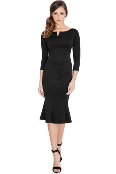 Fluted-Hem-Quarter-Sleeve-Midi-Dress-Black-DR341-9_1.jpg (849×1268)