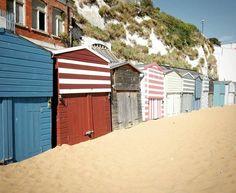 Quintessential British seaside escapades and knobbled little beach huts. I'll sleep happy tonight. #beach #LoveGreatBritain #pursuepretty #classic #travelwithfathom #Ooohidoliketobebesidetheseaside # #