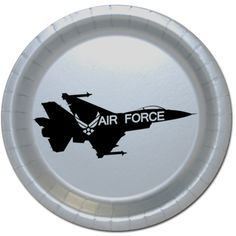 Click for larger picture of AIR FORCE JET DESSERT PLATE PARTY SUPPLIES