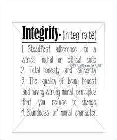 Don't ever use the word integrity when you're nothing but a liar ..