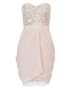 Lipsy V I P Sequin Bust Dress - Lipsy