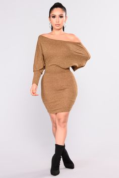Did You Say Dulce De Leche Dress - Mustard