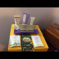 Miscellaneous Sample Set Miscellaneous sample set. Includes Bodycology charmed apple body cream, Clinical KP treatment cloths, Whish lavender body butter, Marcelle 8 in 1 power serum, Ren exfoliating mask, and 32 effervescent breath treatment in lemon mint and spearmint. Never been used. Other