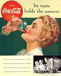 Coca-Cola Girl Its Taste Holds The Answer 1939 - Mad Men Art: The 1891-1970 Vintage Advertisement Art Collection