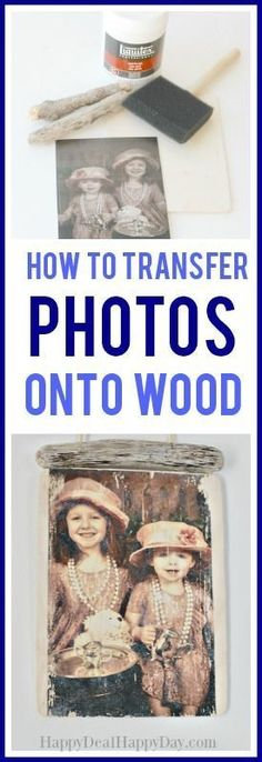 how to transfer photos onto wood - using gel medium and mod podge to make this vintage style photo transfer DIY photo gift idea Picture Transfer To Wood, Wood Transfer, Mod Podge Photo Transfer, Photo Onto Wood, Picture On Wood, Picture Frames, Sims, Look Vintage, Diy Photo