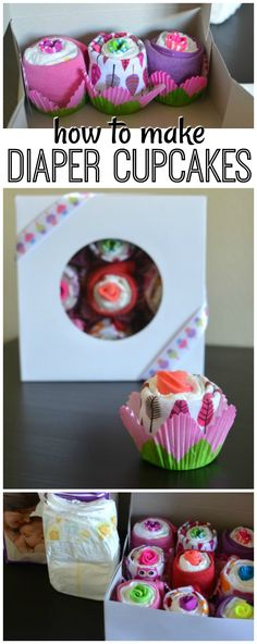This tutorial on how to make diaper cupcakes is not only easy but easy on the budget! It's the perfect gift to accompany a registry item for a baby shower. via @acraftyspoonful
