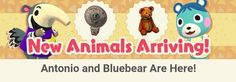 Animal Crossing: Pocket Camp - content update for Dec. 5th 2017   [Animals] Today some new animals were added to the game: Bluebear (unlockable item: Papa bear) Antonio (unlockable item: Mouth of Truth) Phoebe (unlockable item: gas pump) and Raddle (unlockable item: doctors desk).  [Events] For a limited time your friendships will grow more quickly than usual when completing requests (available until December 11th)  from GoNintendo Video Games