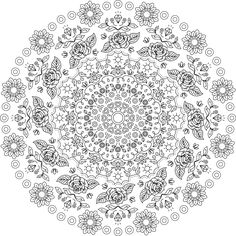 Middle Way - Free printable mandala coloring page…