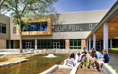A butterfly garden, walking trail, and outdoor classroom area allow students to connect with nature outdoors.