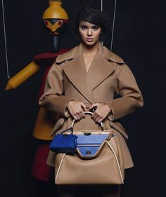 ☆ Kendall Jenner | Photography by Karl Lagerfeld | For Fendi Campaign | Fall 2015 ☆ #Kendall_Jenner #Karl_Lagerfeld #Fendi #2015