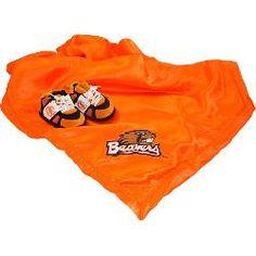 Oregon State Beavers Baby Blanket & Slipper Gift Set