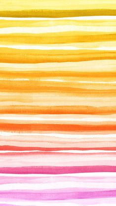 iphone 5 wallpaper - #watercolor stripes #pink #yellow #orange colors #pattern