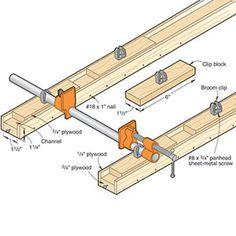Alternative Methode der Einsatz vom Rohrzwingen in Variable Schienen.