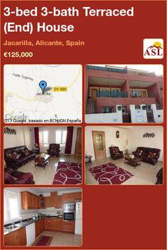 3-bed 3-bath Terraced (End) House in Jacarilla, Alicante, Spain ►€125,000 #PropertyForSaleInSpain