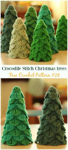 Crochet Christmas Tree Free Patterns for Holiday Decoration and Gifts to Family and Friends, crocodile stitch Christmas tree, Granny Square, Circle Applique Christmas Tree Skirts Patterns, Crochet Christmas Decorations, Christmas Tree Pattern, Christmas Crochet Patterns, Crochet Christmas Ornaments, Crochet Flower Patterns, Christmas Knitting, Crochet Flowers, Tree Decorations