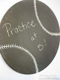 Wonderful project for any baseball home! Also a white dry erase board with red vinyl stitching would be awesome! Great for the busy home and can also be used for fantasy baseball! Idea can be adjusted for any sport! ;)